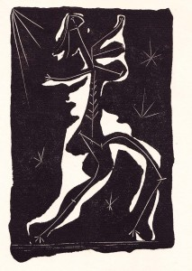 In his lithographs Picasso uses every shade of black to give his models psychological depth.